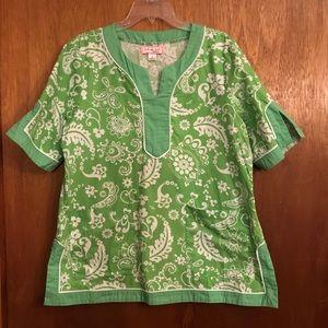 Koi by Kathy Patterson green scrub top